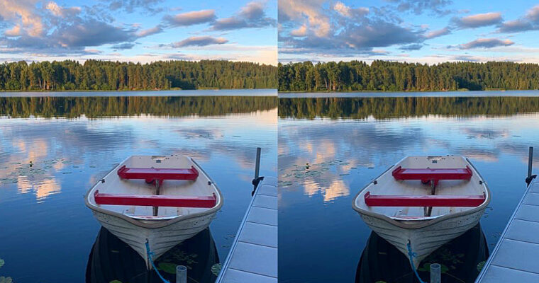 Lakeside stereo photos from Norway and Sweden