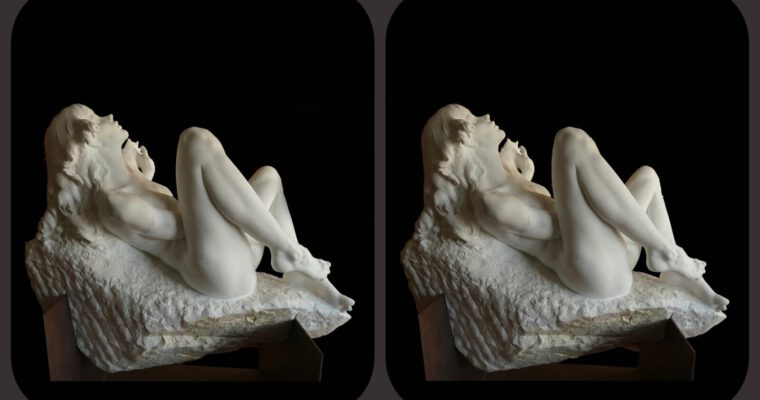 Symbiosis of art — a sculptor's stereo photos