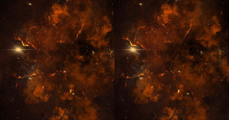 Deep space stereo drawings
